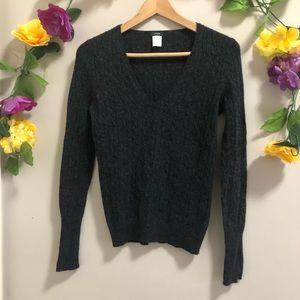 J. Crew Cashmere Blend V-Neck Sweater